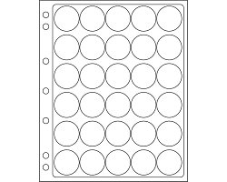 ENCAP 34/35 sheets for 34-35mm coins