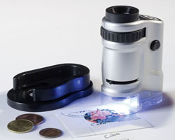 Microscopio zoom con luz LED