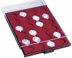 N06 Coin tray 26mm coins in capsules.