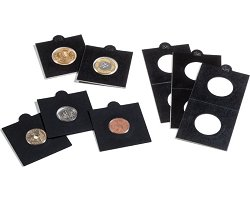 Selfadhesive black coin holder 22.5mm