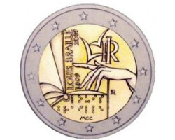 ITALY 2€ Conmemorative 2009 - Braille