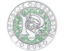 Austria 10€ PROOF - 2018 Guardian Angels Serie nº1: Raphael