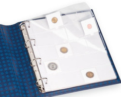 FOLIO Sheets for coins in 20 coinholders  Leuchtturm