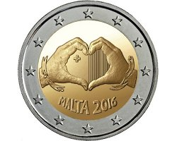 2€ Malta 2016 - Solidarity through love
