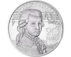 Austrian 20€ 2016 Proof - Mozart Serie(2/3): The Legend