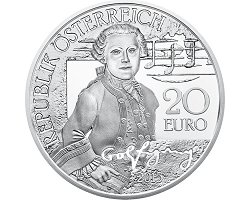 Austrian 20€ 2015 Proof - Mozart Serie(1/3): The WonderKind